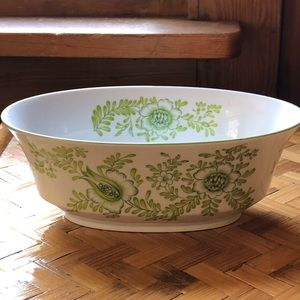 Japanese green and white dish